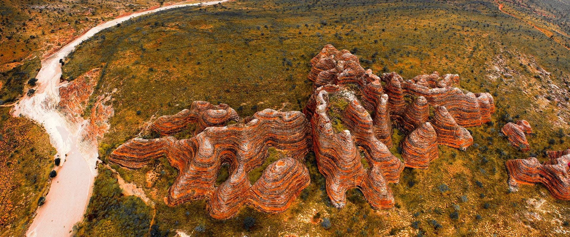 Aerial view of Bungle Bungles, WA
