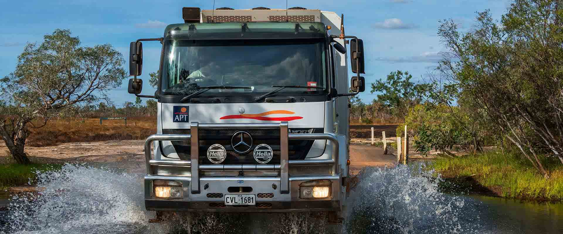 Drive through the rivers of outback Queensland on board a custom-designed 4WD