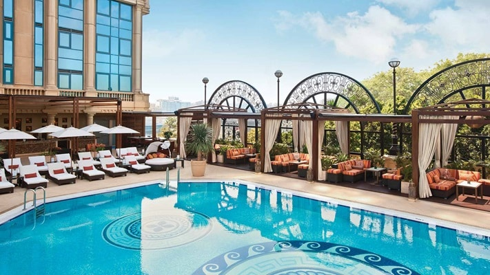 Lavish hotel swimming pool, Four Seasons Hotel Cairo