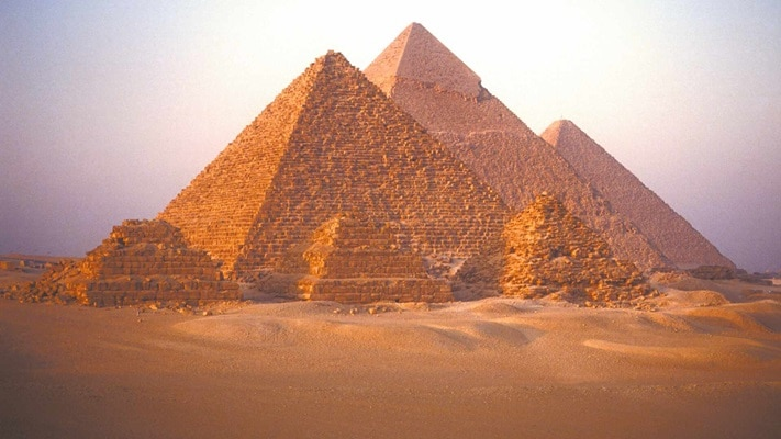 Stunning view of huge pyramids, Egypt