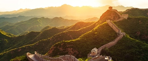 Great Wall of China at sunset, China