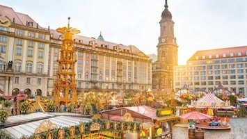 Christmas market at dusk, Germany