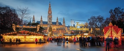 Vienna Christmas Market at night