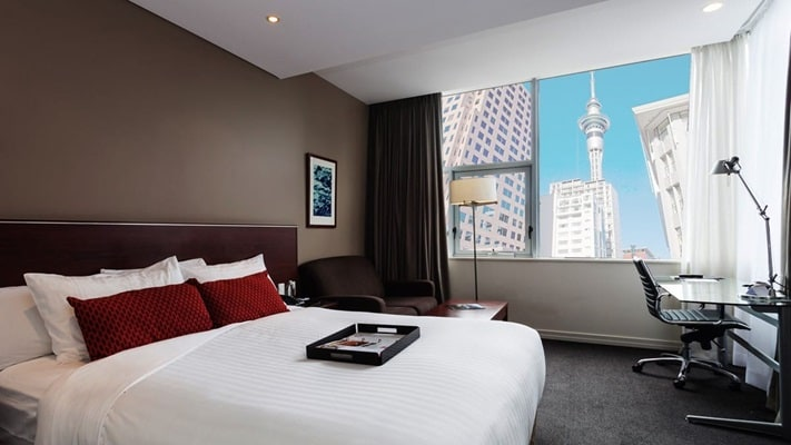 Room interior of the Rydges Hotel, Auckland, New Zealand
