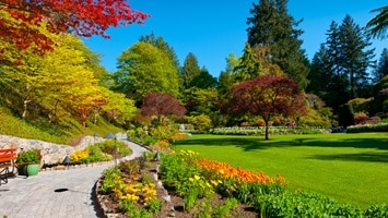 Autumn time in the Butchart Gardens