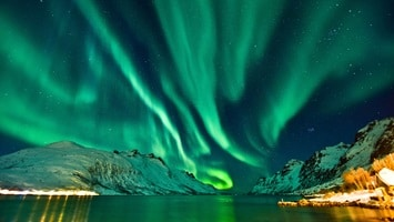 MIdnight lights in the sky, Norway