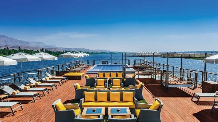 Rooftop deck on Oberoi Philae